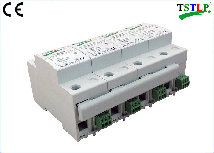 8 Mods Din Rail Mount Three Phase Lightning Surge Protector For Db Board