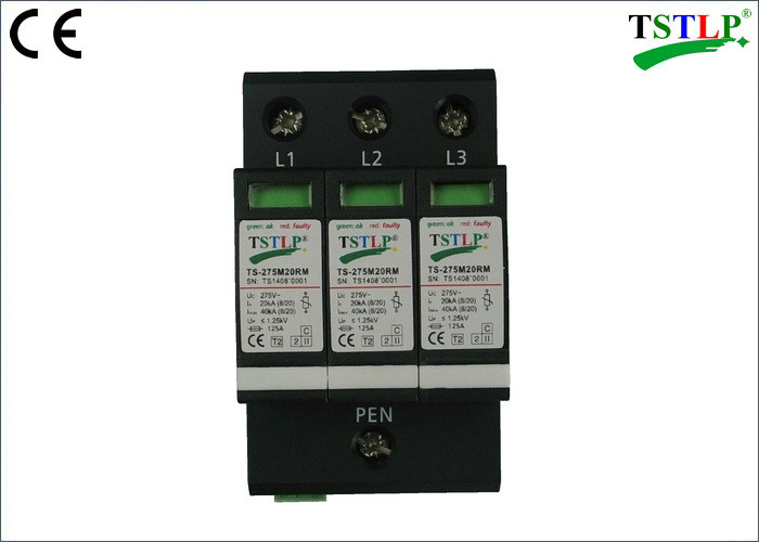 20kA / 40kA Type Industrial Surge Protector , Ac Power Line Surge Suppression Devices